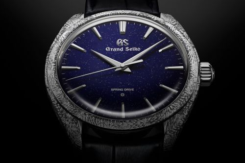 Grand Seiko Paints the Night Sky With $79,000 USD Engraved Platinum Spring Drive