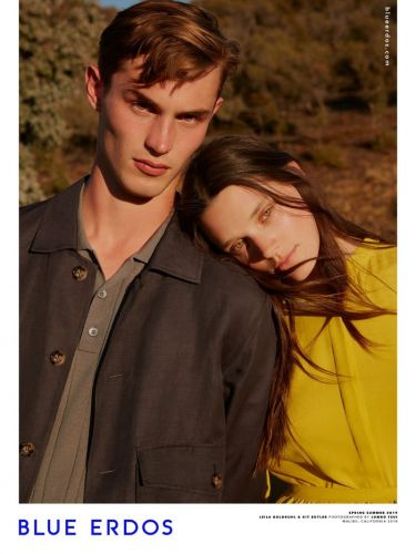 Kit Butler Couples Up with Leila Goldkuhl for Blue Erdos Spring '19 Campaign