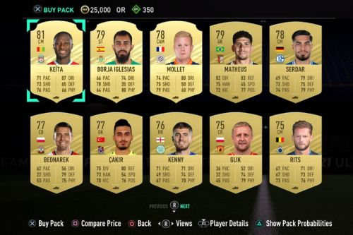 'FIFA 21' Will Now Let You Preview Ultimate Team Loot Packs Before Purchase