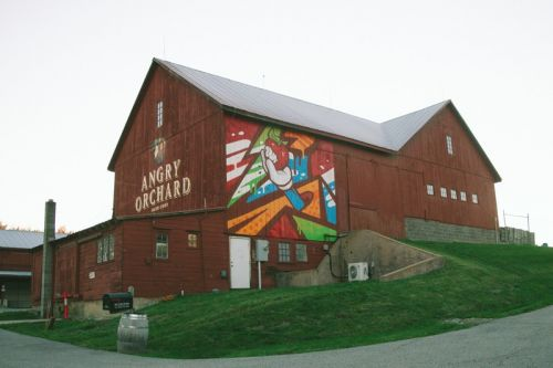 Artist Matt Corrado Creates Mural for Angry Orchard's Upstate New York Cidery