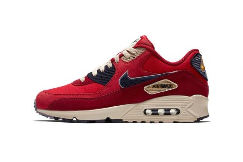 Nike Introduces Red & Navy Air Max 90 With Chenille Swoosh