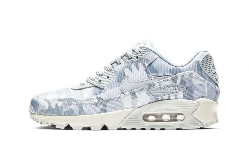 """Nike's Air Max 90 Gets Swathed in """"Pure Platinum/Summit White"""""""