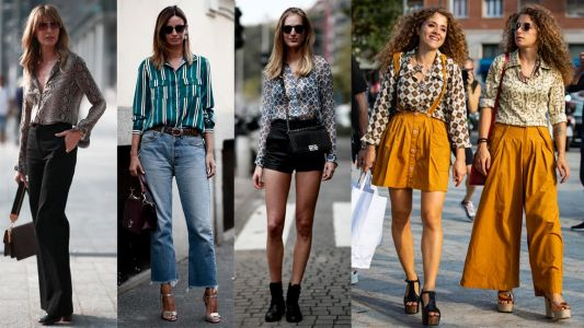 The Street Style Crowd Wore Printed Button-Down Shirts on Day 1 of Milan Fashion Week