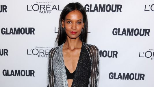 Great Outfits in Fashion History: Liya Kebede in a Metallic Striped Proenza Schouler Dress