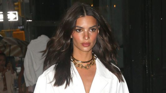 Stunning! Emily Ratajkowski Looks Hot in All White at the Nasty Gal x EmRata Collection Launch