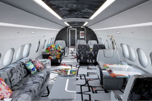 Airbus Corporate Jets Calls in Mr Colorful To Add Emotion To New Jet Cabin