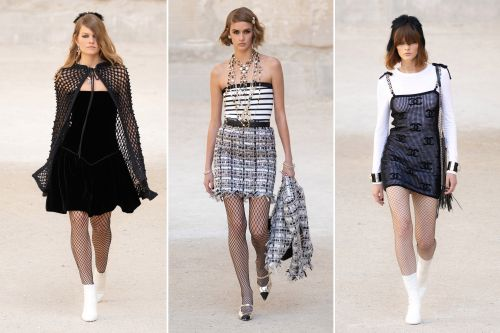 Chanel's '90s-inspired collection featured an ode to Britney Spears