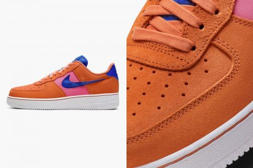 """Nike Gives the Air Force 1 '07 LV8 a Spring-Ready """"Orange Trance"""" Makeover"""
