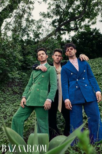 The Jonas Brothers Pose for Harper's Bazaar First Men's Digital Cover