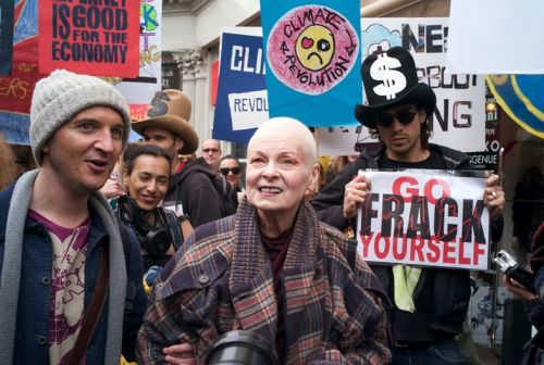 Vivienne Westwood will dance to protest fracking today