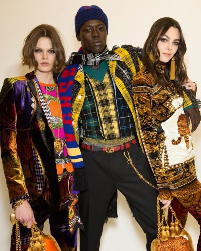 Archive prints meet football at Versace AW18 Menswear