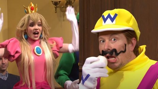 Grimes joins Elon Musk for a Mario-themed courtroom drama on SNL