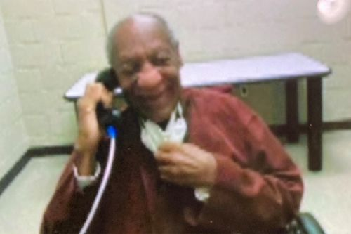 Bill Cosby smiles on prison call after disheveled mugshot surfaces