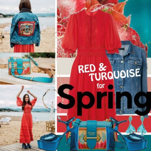 My Look: Red & Turquoise for Spring