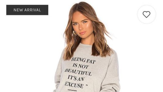 Revolve Is Really Pissing A Lot of People Off With Their New Body-Shaming Sweatshirt