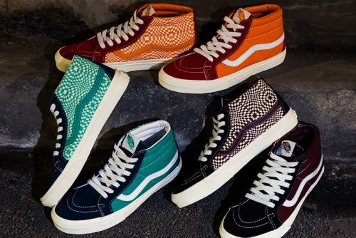 """BILLY'S TOKYO Exclusively Offers the Vans Sk8-Mid """"Warped Check"""" Pack"""