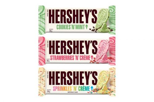 Hershey's Introduces Three Mouthwatering Ice Cream-Inspired Bars