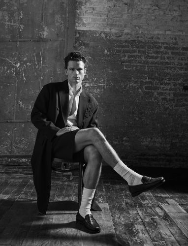 Simon Nessman Dons Chic Menswear for Issue Cover Shoot