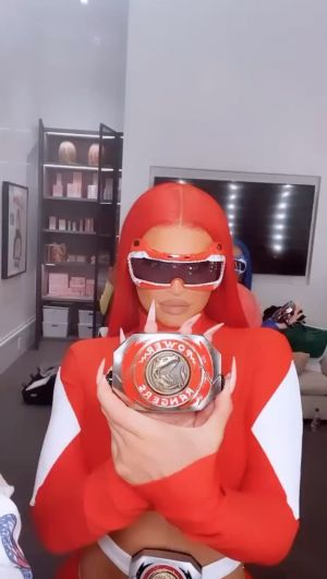 Kylie Jenner Dressed as the Red Ranger From 'Power Rangers' for Halloween - and the '90s Nostalgia Is Real!