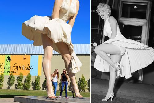 Giant Marilyn Monroe statue's backside sparks backlash in Palm Springs