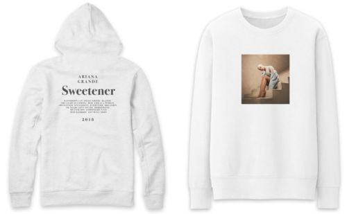 Ariana Grande releases limited edition clothing collection in honor of new album