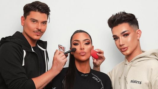 Watch Kim K get her face beat by controversial vlogger James Charles