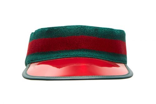 Gucci Celebrates Its Signature Colors With Its Ribbed Knit Visor Hat
