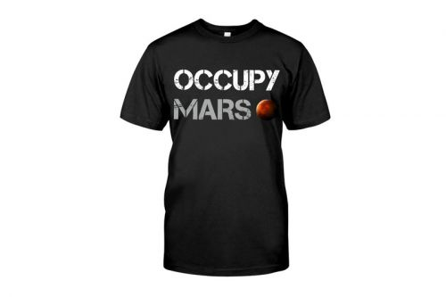 "Join the Mars Revolution With One of Elon Musk's ""Occupy Mars"" T-Shirt"
