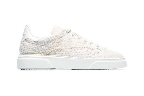 By Walid's Chinese Textile Trainers Get Draped in White