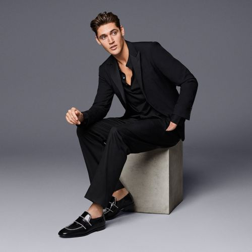Isaac Carew Sports Must-Have Shoes for Jimmy Choo Spring '19 Campaign