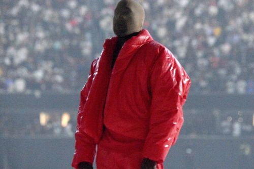 Kanye West Has Been Spotted Wearing Creepy Prosthetic Masks Across the Globe